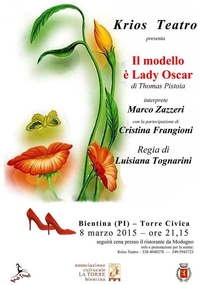 """L'8 Marzo """"Il modello è Lady Oscar"""" va in teatro."""